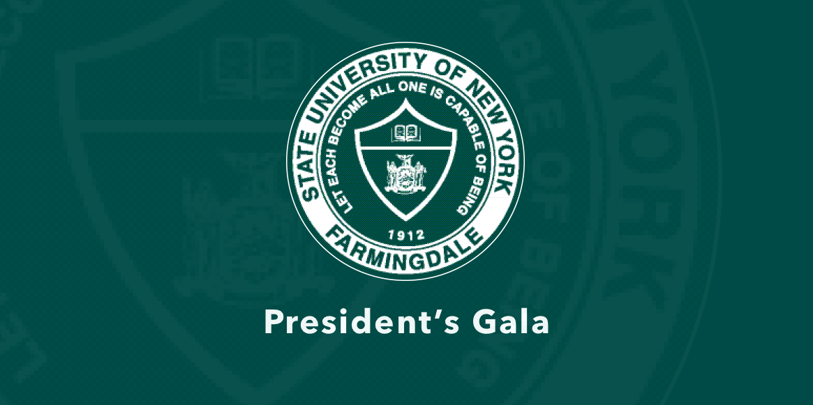 President's Gala Image containing college seal