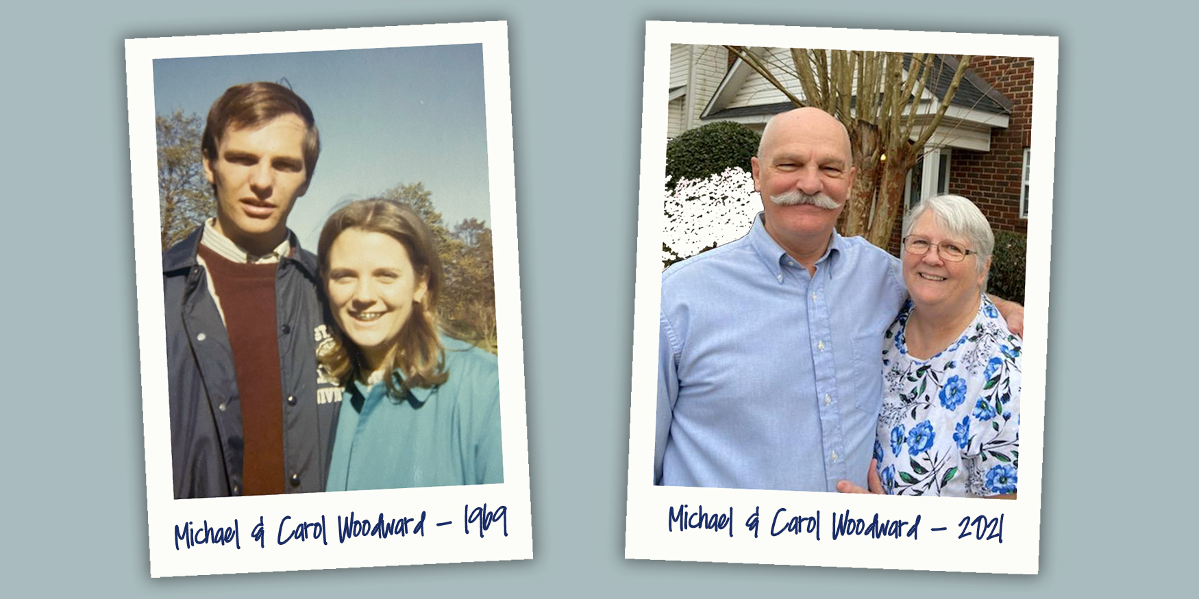 Mike and Carol_then and now