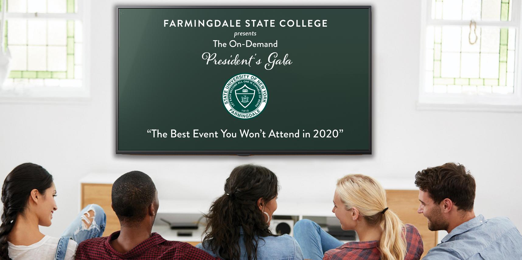 On-Demand President's Gala homepage