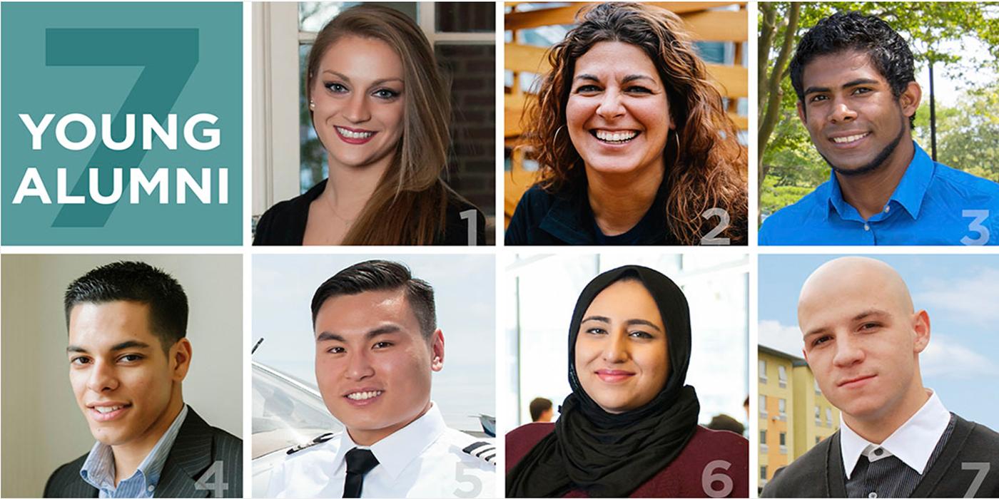 seven young alumni
